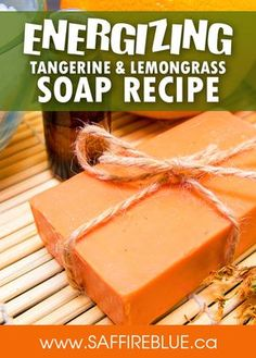 Energizing Tangerine and Lemon Cold Process Soap (palm free)