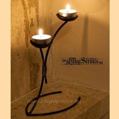 Wrought Iron Candle Holder, Price: 6.15 Euro, Handmade. Powder coated. Dimensions 17x9x15 sm. Weight 0.20 kg.  Shop online at: www.alwayservice.eu Wrought Iron Wall Decor, Wrought Iron Candle Holders, Driftwood Lamp, Wall Shelf Decor, Horseshoe Art, Wood Steel, Iron Art, Welding Art, Candle Stand