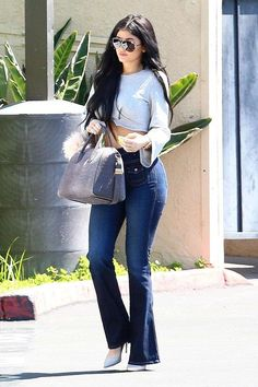 These Are the Jeans Kylie Jenner Can't Stop Wearing Kylie Jenner Outfits, Kendall And Kylie Jenner, Kylie Jenner Jeans, Kyle Jenner, Casual Outfits, Fashion Outfits, Womens Fashion, Fashion Styles, Fashion Fashion