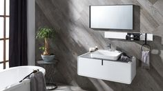 Gamadecor completes the Ciclo collection by means of new shining finishes Porcelanosa Bathroom Furniture