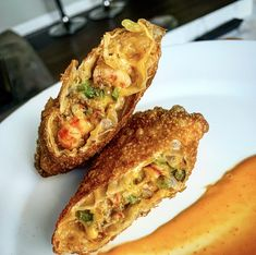 These crawfish egg rolls are stuffed with Cajun favorites; crawfish, the holy trinity and Tony Chachere's. This fusion of flavor by Creole for the Soul is sure to be an instant hit with your friends. Cajun Crawfish, Crawfish Recipes, Cajun Recipes, Seafood Recipes, Appetizer Recipes, Cooking Recipes, Cajun Appetizers, Crawfish Bread, Cajun Dishes