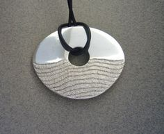 Sea Horizons sterling silver pendant van KatrinaNewman op Etsy