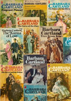 Such happy memories of late night reading of Barbara Cartland when I was a teenager.
