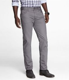 Express Mens Rocco Colored Slim Fit Skinny Leg Jean Gray Vapor, W31