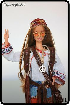 Barbie hippie...she is awesome I want one :)