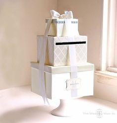 Ozdobne pudełko do zbierania życzeń ślubnych
