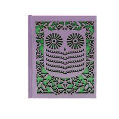 Laser Cut Owl Notebook - Purple