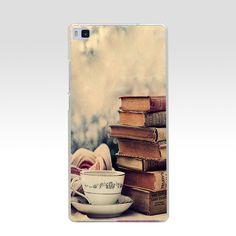 48GV BOOKS Hard Transparent Cover for Huawei P7 P8 P8 P9 P10 Lite y5 ii Honor 4C 5C 6 7 8 & Nova