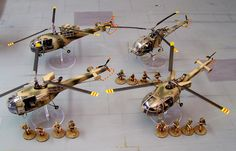 G Car Alouette Helicopter Tabletop, 1970s, Army, Chandelier, Miniatures, Ceiling Lights, Modern, Home Decor, Homemade Home Decor