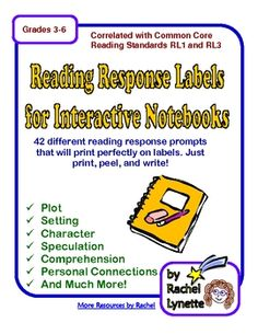 This resource is perfect for anyone who uses interactive notebooks or reading journals with their students. This document contains 42 sheets of lab...