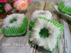 Kue Putu Ayu Putu ayu snack, traditional cakes from Indonesia.