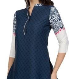 Buy Desibelle Casual 3/4th Sleeves Self Design Women's Kurti kurtas-and-kurti online