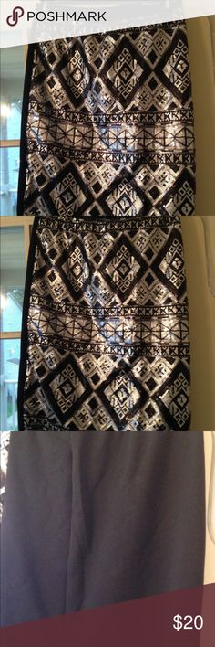 Black, Silver and Sequined Skirt. Easy Pull On. Black, Silver and Sequined Skirt. Easy Pull On. Size 22 Skirts
