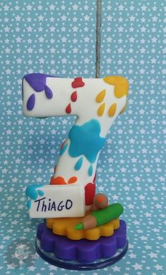 Art Birthday, 6th Birthday Parties, Fondant Numbers, Diy And Crafts, Arts And Crafts, Cake Topper Tutorial, Unicorn Cupcakes, Diy Tops, Fondant Toppers