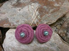 Purple earrings Purple Earrings, Crochet Necklace, Jewelry, Fashion, Moda, Jewlery, Jewerly, Fashion Styles, Schmuck