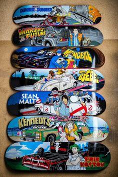 by Girl Skateboard company Girl Skateboard Decks, Painted Skateboard, Longboard Decks, Old School Skateboards, Cool Skateboards, Skateboard Companies, Rocket Power, Skate And Destroy, Skate Decks