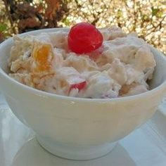 "Cream Cheese Fruit Salad was easy to make & a big hit! I made it ""light"" using Greek cream cheese & fat-free, sugar-free Cool Whip. Fruit Salad With Cream, Cream Cheese Fruit Salad, Creamy Fruit Salads, Salad Cream, Dressing For Fruit Salad, Fruit Salad Recipes, Cream Cheese Recipes, Fruit Cocktail Salad, Ambrosia Salad"