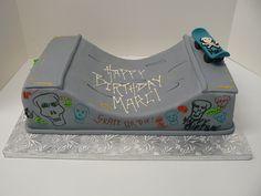 Skateboarder cake from the Night Kitchen Bakery