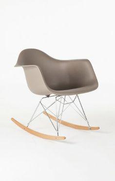 Amazon.com - Mid Century Eames Style RAR Molded Plastic Rocking Chair (Grey) -