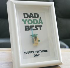 Fathers day yoda best star wars lego frame by ThroughCreation
