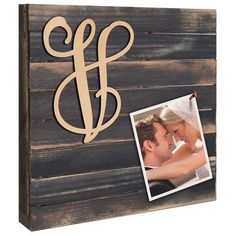"aMonogramArtUnlimited Vine Script Mounted on Rustic Wooden Board Wall Décor Size: 24"" H x 24"" W x 1.75"" D, Letter: N"