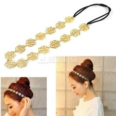 2014 New Fashion Lovely Cute Sweet Exquisite Hollow Out Rose Flower Hair Band Headband