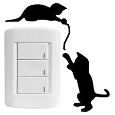 Adesivo para interruptor Gatinhos modelo 1