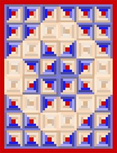 My next quilt in the planning process... I'm going to just do the center 16 log cabin blocks to create the star for a wall-hanging quilt. I'm thinking a Fall colorway... Rusts, yellows, and browns.