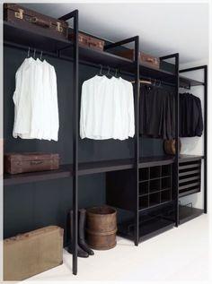 Faire un dressing pas cher soi-même facilement Diy Wardrobe, Wardrobe Storage, Closet Storage, Bedroom Wardrobe, Shoe Rack In Wardrobe, Ikea Walk In Wardrobe, Closet Racks, Steel Wardrobe, Walk In Wardrobe Design