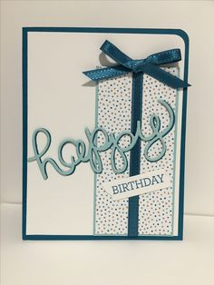 PPA305 birthday card with new Serene Scenery DSP