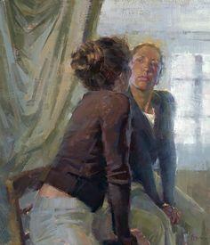 Jennifer McChristian  'Antique Mirror' (24x28 inches, oil)