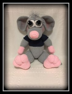 Manfred the mouse- amigurumi- crocheted animals- crocheted mouse- stuffed animals- crocheted toys- find it on etsy @memawscountrycrafts