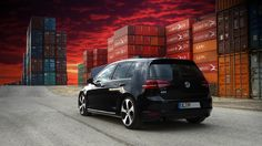 VW Golf MK7 GTI Performance in front of the container station