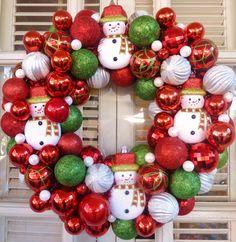 Snowman Christmas Ornament Wreath  Ornament by MemphisMomWreaths, $58.00