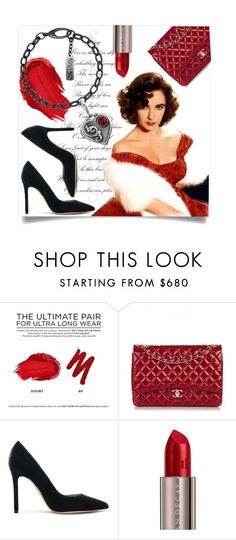 """Red style"" by ledile ❤ liked on Polyvore featuring Urban Decay, Elizabeth Taylor, Chanel and Gianvito Rossi"