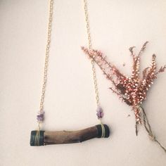wood branch necklace - crystal bib necklace - driftwood necklace - wood amethyst necklace - rustic woodland necklace - wood crystal necklace by gorimbaud on Etsy https://www.etsy.com/ca/listing/232017218/wood-branch-necklace-crystal-bib