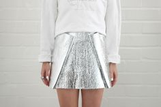 Folded Foil Skirt - if this doesn't inspire creativity, you may just be dead! from love-aesthetics