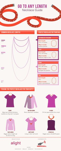 NECKLACE GUIDE: How To Choose The Right Length http://www.shoera.com/2015/04/11/necklace-guide-how-to-choose-the-right-length/