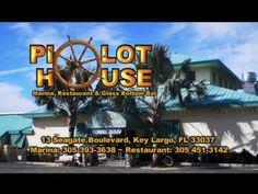 THE PILOT HOUSE MARINA, RESTAURANT & GLASS BOTTOM BAR IN KEY LARGO, FLORIDA Florida Travel, Florida Keys, South Florida, Marina Restaurant, House Restaurant, Key Largo Restaurants, Happy Hour Specials, Florida Adventures, Fall Tv