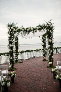Stunning Chuppah | Chic Red Hook Brooklyn New York Bohemian Wedding | Photograph by Brookelyn Photography  http://www.storyboardwedding.com/chic-red-hook-brooklyn-liberty-warehouse-wedding/