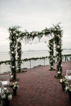 Stunning Chuppah | Chic Red Hook Brooklyn New York Bohemian Wedding | Photograph by Brookelyn Photography  http://www.storyboardwedding.com/chic-red-hook-brooklyn-liberty-warehouse-wedding/