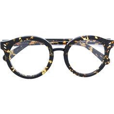 Stella McCartney round frame glasses found on Polyvore featuring polyvore, women's fashion, accessories, eyewear, eyeglasses, brown, stella mccartney eyeglasses, brown glasses, tortoise shell glasses and tortoise glasses