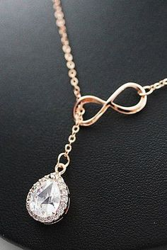 LUX cubic zirconia pendant with infinity necklace