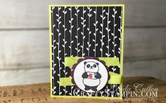 Party Pandas Petal Passion | Stampin Up Demonstrator Linda Cullen | Crafty Stampin' | Purchase your Stampin' Up Supplies | Party Pandas Stamp Set | Layering Circles Framelits Dies | Petal Passion Designer Series Paper | Lemon Lime Twist 1/2 Finely Woven Ribbon