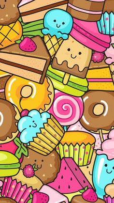 Cupcakes wallpaper pastel background candy cute wallpapers iphone kawaii also dessert casetify art design illustration rh Kawaii Wallpaper, Colorful Wallpaper, Cartoon Wallpaper, Cool Wallpaper, Cute Backgrounds, Cute Wallpapers, Wallpaper Backgrounds, Iphone Wallpaper, Kawaii Doodles