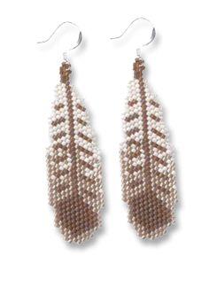 Falcon Feather Earrings Pattern At Sova Enterprises
