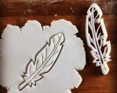 Feather shaped cookie cutter  biscuit cutters  Quill by Made3D