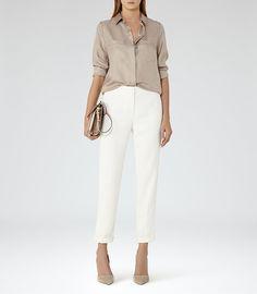 54585b8208b3a REISS - MEERA SILK POCKET-FRONT SHIRT Office Fashion