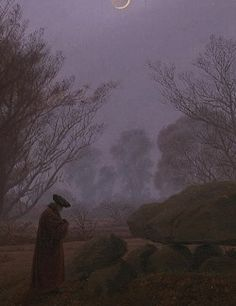For the twenty pairs of paintings below, indicate your preference (from Dark Triad personality test, in extra research questions). This painting by Caspar David Friedrich.