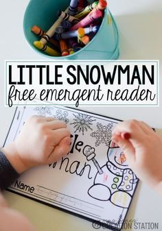 Teaching little learners to read can be easily done with simple emergent readers. That makes our Free snowman emergent reader printable book perfect for early literacy, preschool, and kindergarten. Kindergarten Literacy, Early Literacy, Literacy Activities, Kindergarten Posters, Literacy Stations, Literacy Centers, Winter Activities, Preschool Winter, Preschool Books